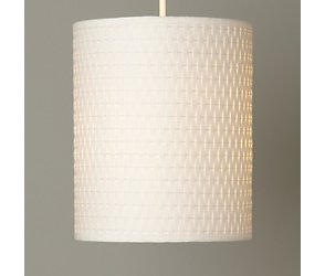 Woven paper cylinder ceiling shade