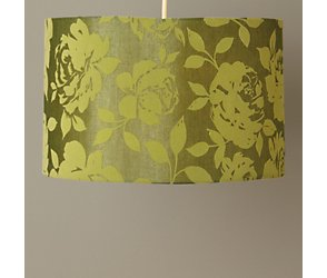 Lime rose flock ceiling shade