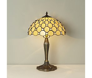 Large jewel tiffany table lamp