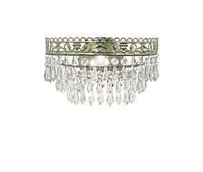 Champagne swag wall light
