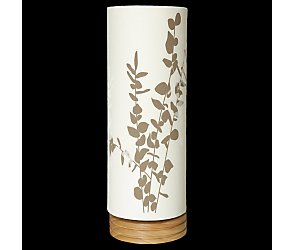 Printed cylinder table lamp