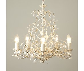 Tahlia 5 light chandelier - cream gold