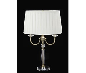 Two arm candelabra table lamp