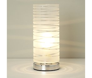 Etched glass table lamp