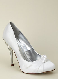 Jewel knot front jewelled wedding shoe