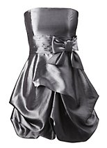 Taffeta hitch up puffball dress