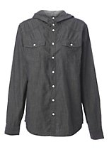 Funnel neck denim shirt