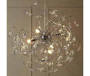 Bhs Lila Wall Lights : Lila Sputnik Ceiling Light, chrome